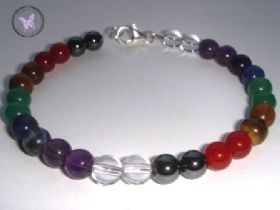 Classical Chakra Bracelet with Silver Clasp